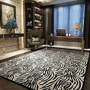 Schwarz Weiß Streifen Teppich Wohnzimmer Leopard Design Zebra Design  Teppich Wohnzimmer Schlafzimmer Teppich 1