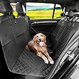 KYG Hundedecke Auto Autoschondecke für Rückbank Kofferraum Wasserdichte Schondecke mit Gurtöffnung für Hunde 148*136 cm Robuste Auto Hundedecke Rücksitz für Hunde