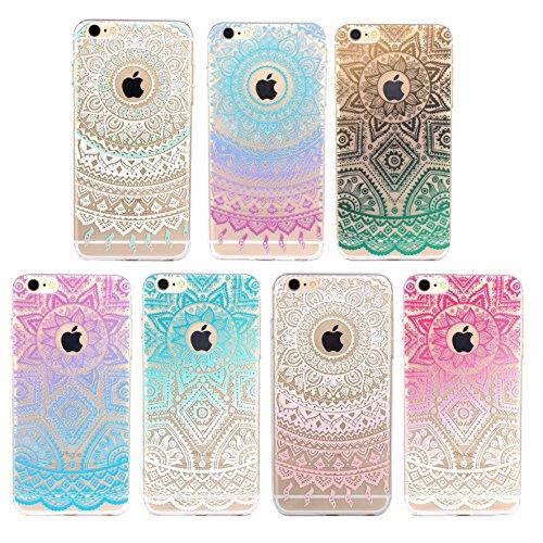 iPhone 6/6S Case motivo Case blu/bianco