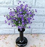 6pcs Bianco Viola Plastica Fiori Artificiali Decorazione Per Matrimonio Party Casa (Viola)