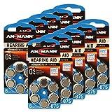 60 ANSMANN Hörgerätebatterien / 10x6er Packung Zink...