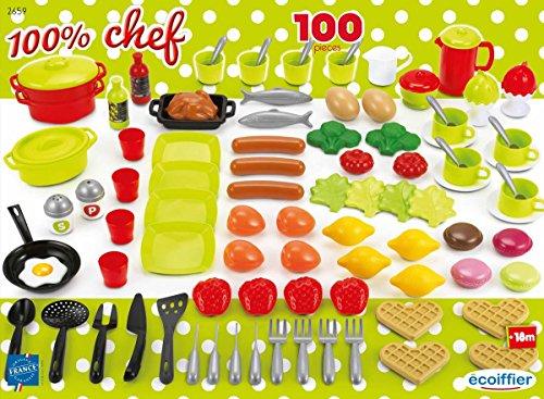 Jouets Ecoiffier - 2659 - Coffret dînette 100 % Chef...
