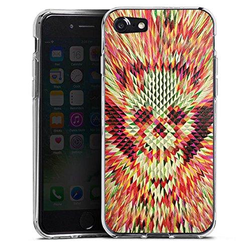 Apple iPhone X Silikon Hülle Case Schutzhülle Geo Skull Totenkopf Schädel Silikon Case transparent