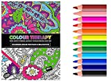 10 FREE COLORING Pencils with 64 Page Adult Colouring Book Anti Stress Art Therapy Positive Zen Soothing Calm