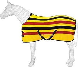 Masta Ascot Streifen Velours Fleece Pferdedecke
