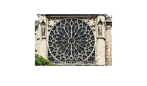 Amazon De Luckhome Rosettenfenster Der Kathedrale Notre Dame Paris