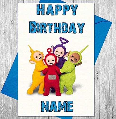 Teletubbies Personalisierte Geburtstagskarte–Jeder Name und Alter