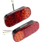AOHEWEI 2 stuks led-aanhanger, achterlichten, remlicht voor vrachtwagen, 12 V, knipperlicht, waterdicht, verlichting achter n