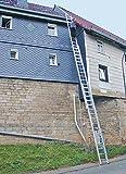 KRAUSE  leg021Schiebeleiter Tripla von Seil mit 3x 18Sprosse, 12.45M/5.3m Länge