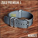 Zulu Nato Nylon Watch Straps, 5 Ring Stainless Steel Hardware