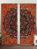 Tapisserie Tür Vorhang Gardinen Bohemian Tuch Balkon Room Decor Vorhang Set,-Fenster Deko elegant Vorhänge, dorm-art deco-hippie-medallion-morrocan-indie-mandala Wandteppich, Vorhang Wand