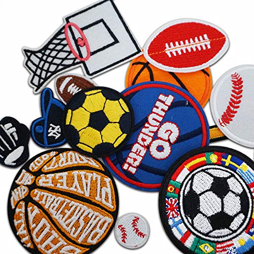 12 parches de pelotas de baloncesto
