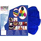 SOFTSPUN Microfiber 4 Layer Baby Diaper Inserts for Cloth Diaper, Pocket Diaper Set Of 4, Large, Age 4-30 Months, Blue