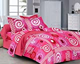 Classic FP Red Printed Cotton Double Bed...