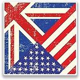 2x Des États-Unis d'Amérique et Royaume-Uni Drapeau # 7177 - 20cm/200mm Wide