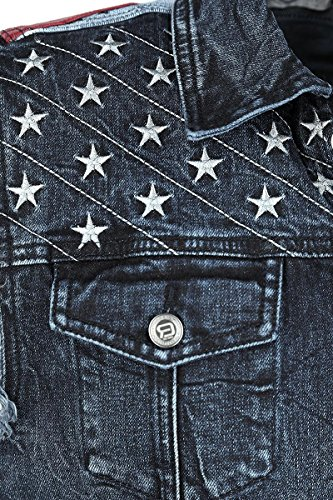 R.E.D. by EMP Stars & Stripes Vest Weste blau Blau