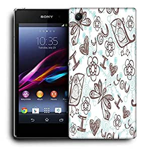 Snoogg Multicolor I Love You Designer Protective Phone Back Case Cover For Sony Xperia Z2