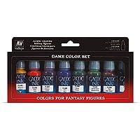 Vallejo Coffret de 8 pots de peinture acrylique - Couleurs assorties
