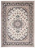 Grande Tapis d'Orient - BLANC NOIR - Motif Persan Traditionnel et Oriental - Tapis de...