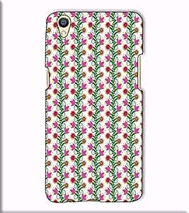 Fuson Designer Back Case Cover for Oppo F1 Plus :: Oppo R9 :: Opo F1+ (Pink flower pattern theme)