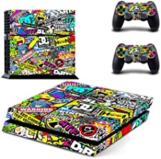Elton Hoonigan Theme 3M Skin Sticker Cover for PS4 Console and Controllers