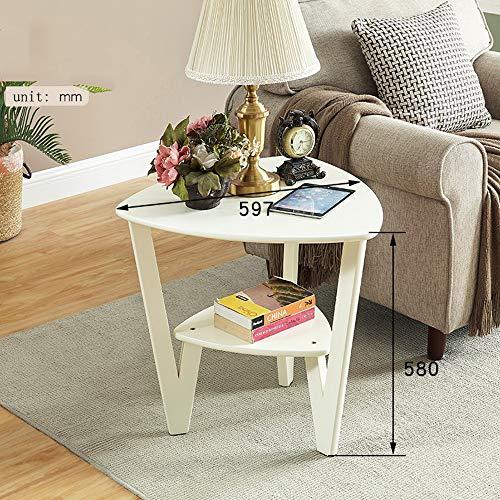 Zhuozi FUFU Tische Massivholz Beistelltisch Nachttisch Nachttisch Nachttisch Sofa für Wohnzimmer, Schlafzimmer 2 Farben Drop-Blatt-Tabelle (Farbe : Milk White)