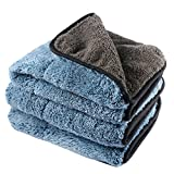 3 Pezzi Panni Auto Microfibra per la Pulizia, 1200 GSM asciugamano auto lavaggio pulizia auto dettaglio cucina pulizia panni cera e sigillatura rimozione, perfetto per auto lavaggio e verniciatura