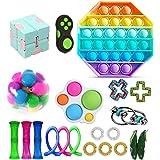TAIPPAN Fidget Toy Set, Sensory Toy, 26 stuks Fidget Pack, Fidget Set met Simple Dimple Fidget Toy Marble Mesh Push Pop Bubbl
