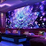 Yosot Custom 3D Tapeten Cool Night Club Blume Bar Ktv Tooling Wandbild Ktv Tapeten Hotel Tapeten Designs Decke-250Cmx175Cm