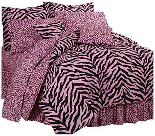 Pink Zebra + Leopard–Bettwäsche komplett Set–Twin