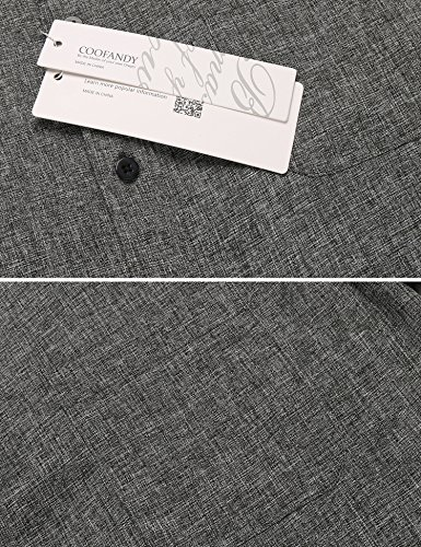 Burlady Herren Hemd regular fit Bügelleicht Langarm-Hemden langarmhemden Freizeit Business Dunkelgrau