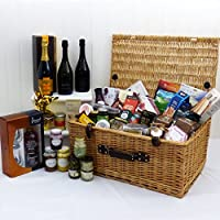 Champagne, Rose and Prosecco Luxury Food Gift Hamper Presented in a Wicker Basket - Gift Ideas for Father's Day, Birthday, Wedding , Anniversary and Corporate from Fine Food Store