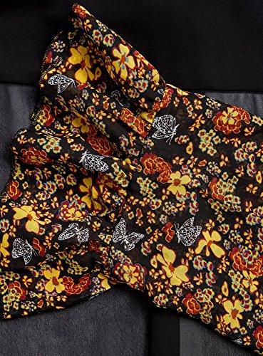 oodji Ultra Damen Kombinierte Bluse mit Ausgefallenen Manschetten Schwarz (2952F)
