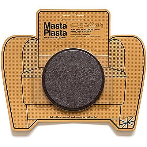 Reparación Cuero, Polipiel y Skai - Parches Adhesivos - MastaPlasta - Circulo Grande (80mm) (Marrón