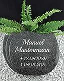Grabstein Urnenstein Fächerstein inkl. Inschrift 40x30x7 cm Material: Absolute Black