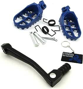 Stoneder Schalthebel Aus Aluminium 11 Mm Zusammenklappbar Und Fußstütze Für Pitbikes Mit 50 70 150 160 Ccm Auto