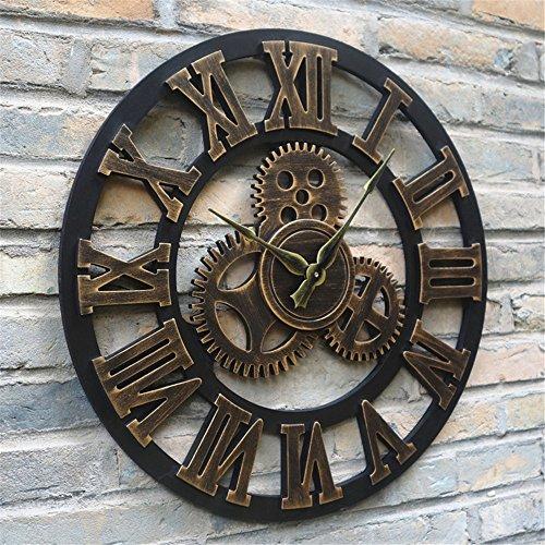 AIZIJI Industrial Air Uhren Jugendstil Wanduhr personalisierte Wohnzimmer in der kreativen modernen...