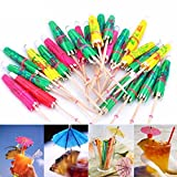 #3: SET of 50 Party Umbrella Sticks. Assorted Colors