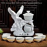 CUPWENH 11 Pcs/Viele Kreative Automatische Chinesischen Kung Fu Teeservice Keramik Porzellan Openwork Pu'Er Teetasse Messe Cup Gaiwan Base Creative Bausatz, C