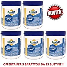 Sanity - Poudre pour réservoir d'évacuation des WC avec principe actif -5boîtes de 15sachets