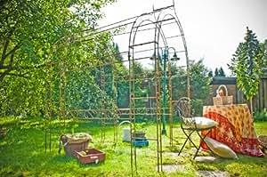 De construction de pergola/rosentunnel arche pour rosier rouille métal-largeur :  140 cm