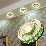 DJ/ LED downlights/techo cristal/Iluminaci¨®n/pared del fondo luminarias/empotrable , green warm white