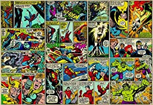 marvel comic heroes photo wall mural 368 x 254 cm amazon. Black Bedroom Furniture Sets. Home Design Ideas