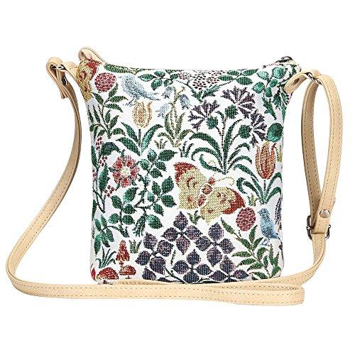 182182ac3351 Signare Tapestry Women Lightweight Sling Cross Body Satchel Bag Charles  Voysey Spring Flower (SLING-SPFL)