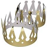 12 x Krone goldfarben Geburtstag Prinz Prinzessin König Königin Mitgebsel Fasching