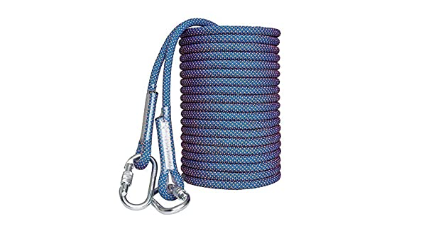Color : 16mm, Size : 50m WANGJUNAI Climbing Rope Outdoor Wear Spider Man Aerial Rope Rescue Rope Air Conditioning Installation Downhill Cleaning Rope