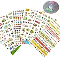 Jespeker Cute Stickers Cartoon Cat DIY Album Daily Planner Diary Scrapbook Mobile Phone Decorative Stickers 6 Pieces Kids Children Toys