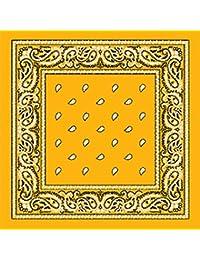 TC-Accessories Bandana en coton motif cachemire jaune citron