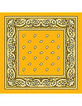 TC Accessories - Pañuelo, diseño de cachemir, estampado por ambos lados, color amarillo intenso