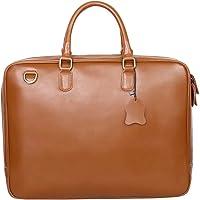 Leathario Herren Ledertasche Umhängetasche Handtasche Schultertasche Aktentasche Laptoptasche Schultasche…